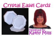 3 x Crystal Easel Card Blanks & Boxes Kit - White 300gsm Card